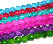 10mm crackled glass beads